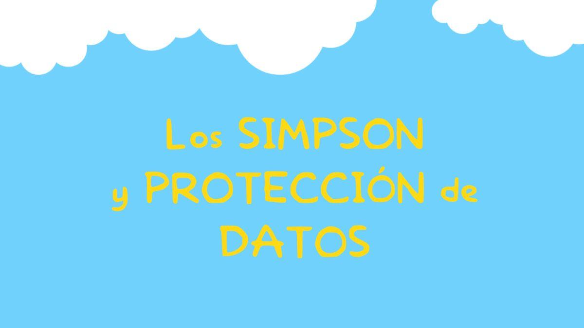 Derecho Ficción: protección de datos en LosSimpson